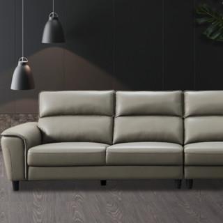 CHEERS 芝华仕 2009 意式四人位沙发 右角位 浅灰色