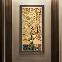 橙舍 克利姆特《生命之树》 126cmx66cm 走廊过道挂画 油画装饰画
