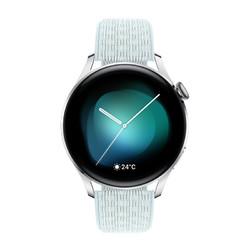 HUAWEI 华为 WATCH 3 智能手表 时尚版 46mm 灰蓝尼龙表带