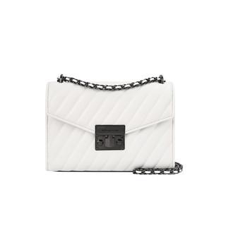 MICHAEL KORS 迈克·科尔斯 迈克.科尔斯 MICHAEL KORS 奢侈品 女士中号白色皮质单肩斜挎包35T0UXOL2U OPTIC WHITE
