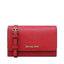 MICHAEL KORS 迈克·科尔斯 MK JET SET TRAVEL系列 女士皮革单肩斜挎包 红色 35S0GTVC2L FLAME