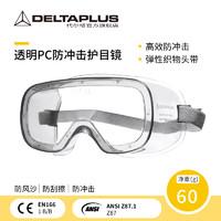 DELTAPLUS 代尔塔 护目镜防尘打磨近视眼可戴化学实验室防飞溅工业粉尘防护眼镜眼罩