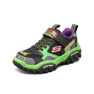 SKECHERS 斯凯奇 新款中大男鞋运动休闲鞋儿童时尚轻便透气魔术贴厚底运动鞋男童