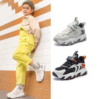 BeLLE 百丽 2021年春季男童鞋魔术贴儿童运动鞋透气休闲鞋子中大童跑步鞋