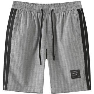 MARK FAIRWHALE 马克华菲 短裤男士夏季新款潮流复古格纹千鸟格子休闲工装五分裤