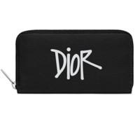 Dior 迪奥 X Shawn Stussy 男士牛皮革钱包 2PUBC011YZS_H10E 黑色