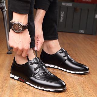 Crocodile 鳄鱼恤 男士低帮休闲皮鞋 2600 黑色 43
