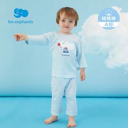 Les enphants 丽婴房 童装儿童家居服男女童多彩卡通家居服套装2021夏 蓝色 130cm/8岁