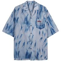 TGNS 男士短袖衬衫 20SYSS045 蓝色 S