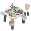 乐亲 60085 萌兔积木学习桌 99大颗粒+600小颗粒