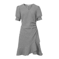 SEIFINI 诗凡黎 女士泡泡袖连衣裙 7B6123271-1 黑色 M