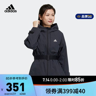 adidas ORIGINALS 阿迪达斯官网 adidas TECH JKT BAND 女装训练运动夹克外套GP0640 黑色 A/M(165/88A)