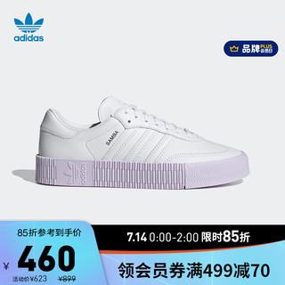 adidas ORIGINALS 阿迪达斯官网 adidas 三叶草 SAMBAROSE W 男女鞋经典运动鞋GZ8616 白色 36(220mm)