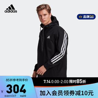 adidas ORIGINALS 阿迪达斯官网 adidas M 3S tape Jkt 男装训练运动夹克外套GM5752 黑色/白 A/L(180/100A)