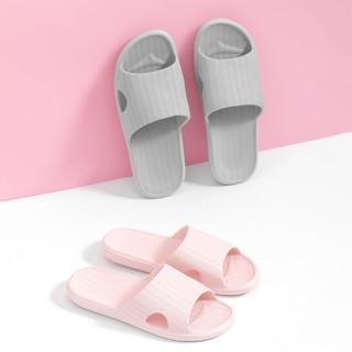 MINISO 名创优品 简约絮纹凉拖鞋柔韧加厚软底浴室拖家居拖鞋防滑浴室拖鞋