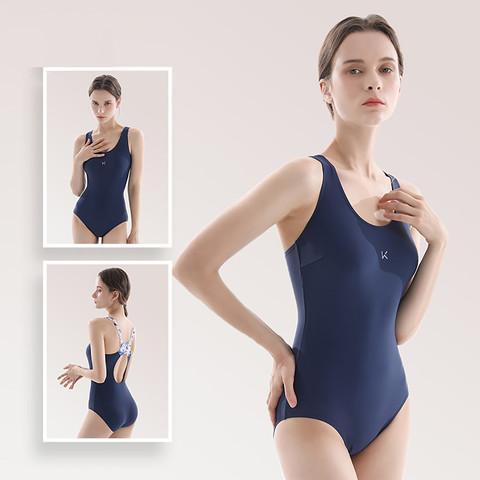Keep keep新款 泳衣女士度假修身显瘦连体泳装露肩吊带温泉泳衣
