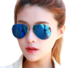 雷德蒙 男女款太阳镜 H3026 银框冰蓝偏光片 60mm