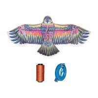 可爱布丁 老鹰风筝+18轮300米线+连接器 户外玩具 直径2m