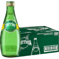 perrier 巴黎水 Perrier气泡水充气天然矿泉水 原味330ml*24瓶/箱