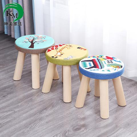 小凳子实木凳家用换鞋凳板凳圆凳