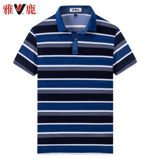 YALU 雅鹿 冰丝polo衫男士短袖t恤中老年夏季衬衫领恤夏季男装半袖衣服