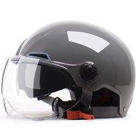 YEMA 野马 YEMA-350 摩托车头盔 亮灰 双镜春夏款