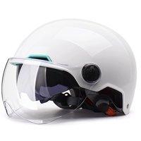 YEMA 野马 YEMA-350 摩托车头盔 白色 双镜春夏款
