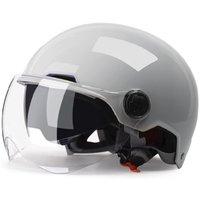 YEMA 野马 YEMA-350 摩托车头盔 冷淡灰 双镜春夏款