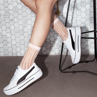 PUMA 彪马 2021夏新款运动板鞋女厚底小白鞋时尚帆布鞋Platform