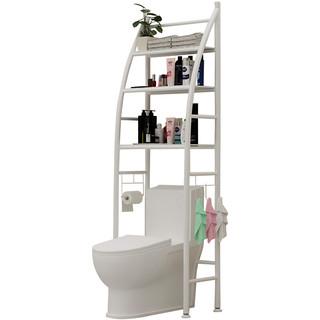 卫生间置物架落地马桶架洗衣机厕所浴室收纳架洗手间毛巾植物摆物架子落地免打孔