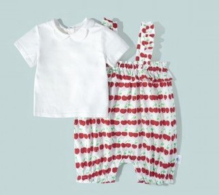 mini balabala 迷你巴拉巴拉 女童短袖套装