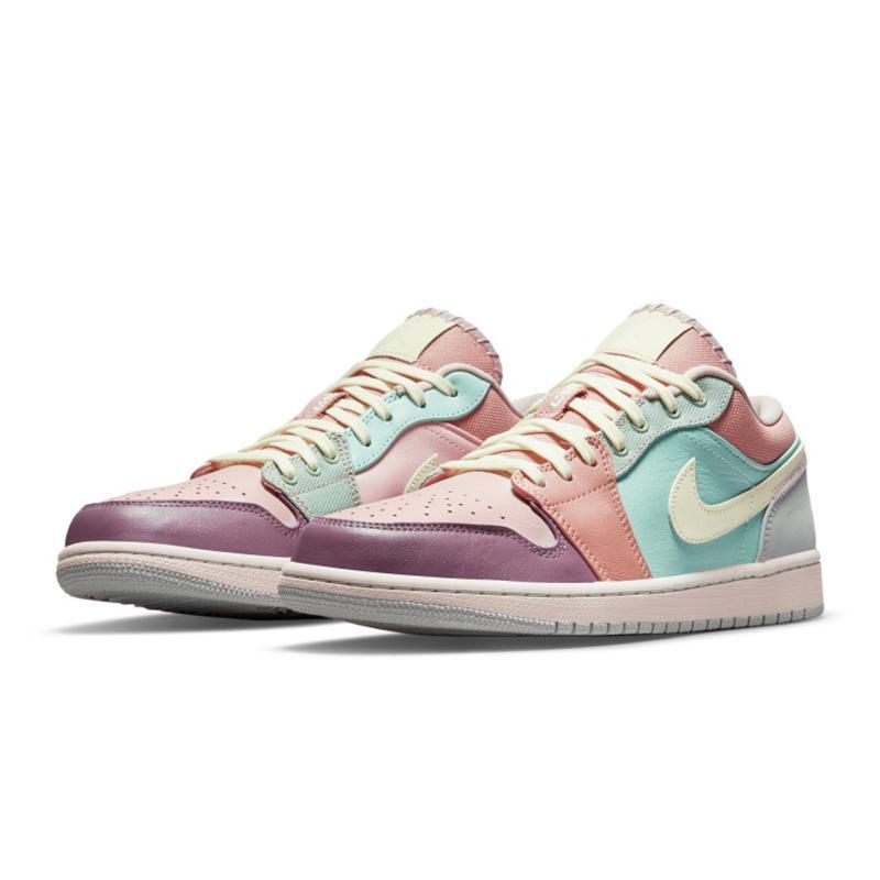 AIR JORDAN 1 DJ5196-615 男款粉绿马卡龙篮球鞋