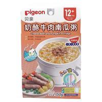 PLUS会员:Pigeon 贝亲 婴幼儿牛肉南瓜味辅食粥 50g