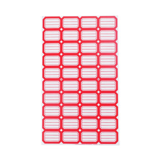 LISON 浩立信 402红色*50张 29*19mm(40枚/张) 不干胶粘纸贴 标签贴纸 自粘性标贴纸 口取纸 口曲纸