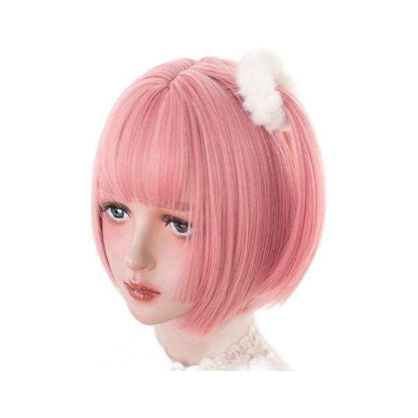 Alice garden 短直发日系假发套 #蜜桃粉 30cm