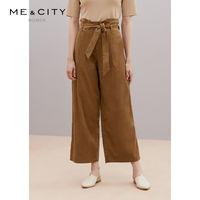 ME&CITY 女士高腰直筒休闲裤
