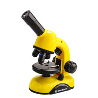BRESSER 宝视德 儿童显微镜 80X-200X 黄色+50片标本