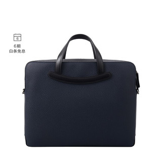 DELVAUX 公文包男士商务包奢侈品单肩斜挎手提包包 Magritte系列限量版 藏青色-黑色