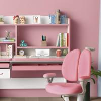 readboy 读书郎 护眼桌面+融鲸书架+矫姿椅套装 粉色 1.2m