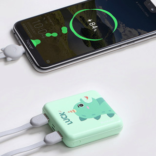 Yoobao 羽博 6024mini 移动电源 绿色 10000mAh Lightning micro usb 10.5W 线充套装