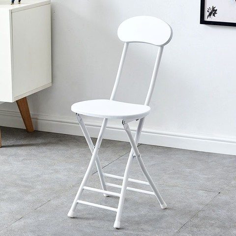 LISM 简易折叠椅子靠背椅学生椅家用餐椅折叠凳子培训椅便携椅宿舍椅