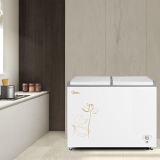 Midea 美的 271L大冰柜双温卧式家用超大容量冰箱冷柜商用速冻冷藏冷冻柜