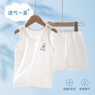 CLASSIC TEDDY 精典泰迪 婴幼儿童宝宝背心短裤两件套男女童套装