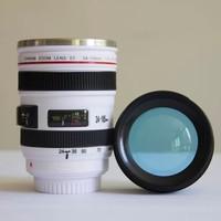 梦多福 咖啡杯单反相机镜头杯 黑色 400ml