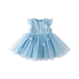 DAVE&BELLA 戴维贝拉 童装夏装女童网纱连衣裙女孩宝宝公主裙儿童裙子洋气衣服