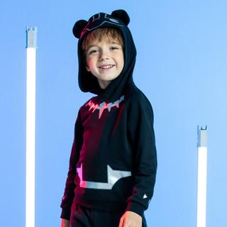 ANTA 安踏 童装男童卫衣101-130CM儿童卡通连帽外套