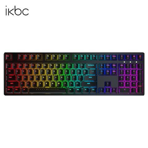 iKBC F410 108键 有线机械键盘 cherry红轴 黑色