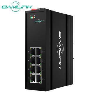OAMLink OAM-6000-45-8TX 工业交换机 百兆8口以太网非管理型 交换机