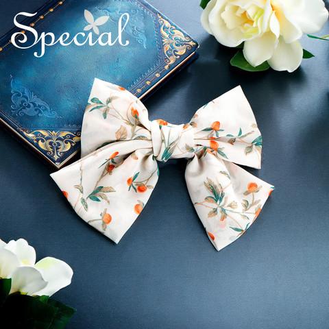 special SPECIAL欧美森系蝴蝶结手工发饰头饰发夹马尾夹弹簧夹 月光与笺