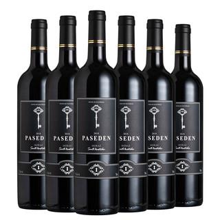 佩斯顿 澳洲原装进口15度干红葡萄酒 750ml*6 礼盒装+赠水晶杯双支